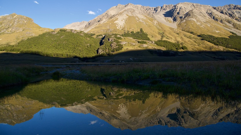 Reflections of the Southern Alps, New Zealand