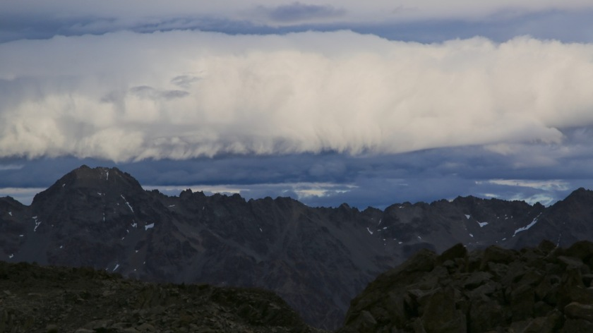 Storm clouds in the Southern Alps NZ