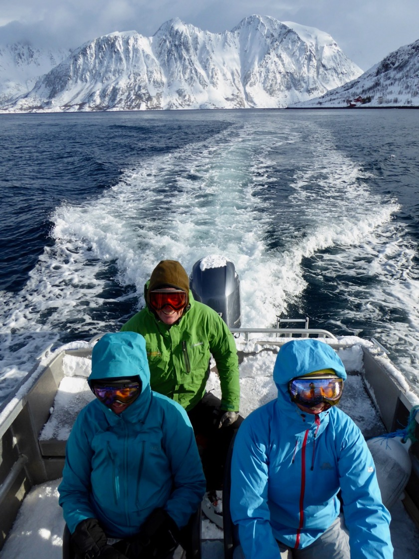 Boat accessed ski touring in Northern Norway