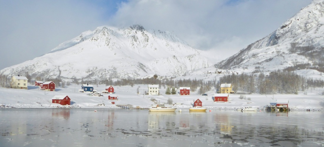 Bergsfjord in winter, Northern Norway
