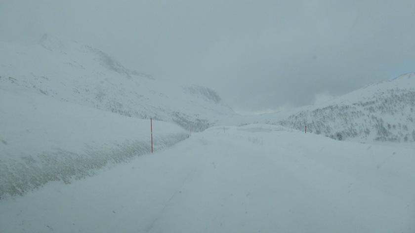Frozen Arctic roads in Northern Norway