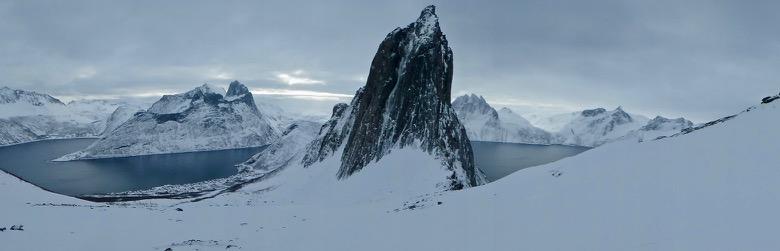 Panorama of Segla and Fjordgård in Northern Norway