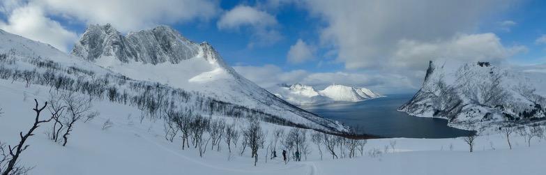 Ski touring in Mefjordbotn Northern Norway