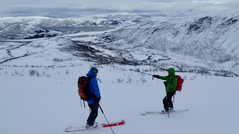 Ski touring in the fjords of Northern Norway